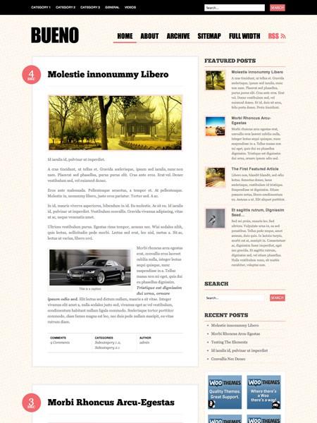 Kostenloses WordPress Theme Bueno