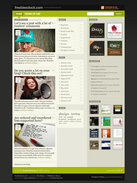 Kostenloses WordPress Theme Freemium