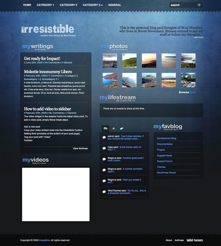 Kostenloses WordPress Theme Irresistible