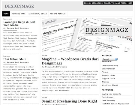 Kostenloses WordPress Theme MagZine