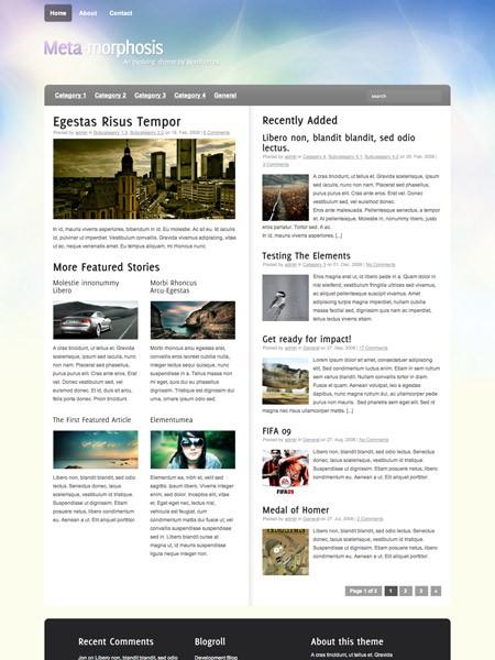 Kostenloses WordPress Theme Meta-Morphosis