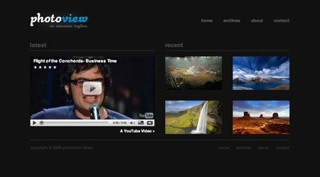 Kostenloses WordPress Theme Photoview