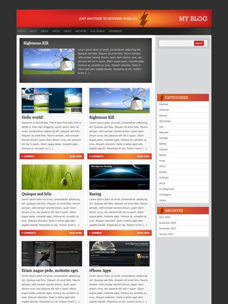 Kostenloses WordPress Theme Thunderbolt