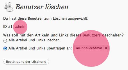Alten Admin-Account löschen