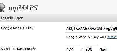 wpMaps Einstellungen - Screenshot von Sergej Müller
