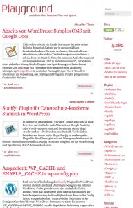 Einfaches Blogdesign