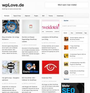 Blogdesign wpLove.de