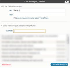 Interne Verlinkung mit WordPress Feature