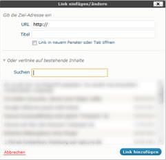 Interne Verlinkung mit WordPress Feature