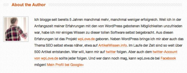 Autorenplatzhalter in WordPress