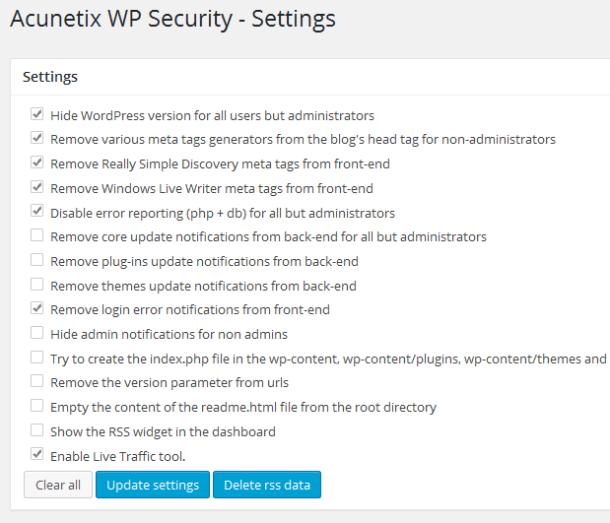 wordpress absichern_acunetix-wp-security-settings