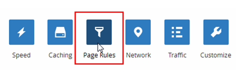 cloudflare-page rules definieren