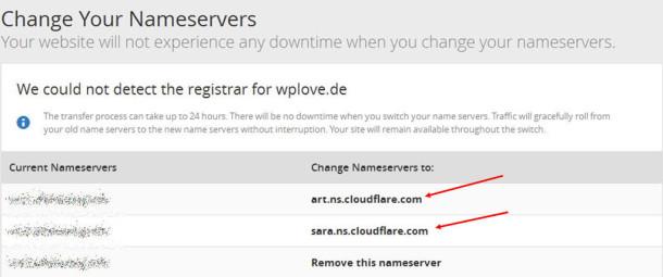 cloudflare und wordpress-dns einstellungen anpassen